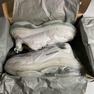Balenciaga triple s clear sole 45